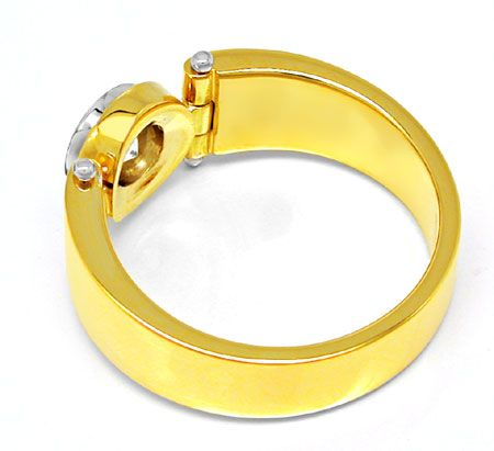 Foto 2, Neu! Solitär-Ring River Traum-Design Bicolor 18K Luxus!, S8838