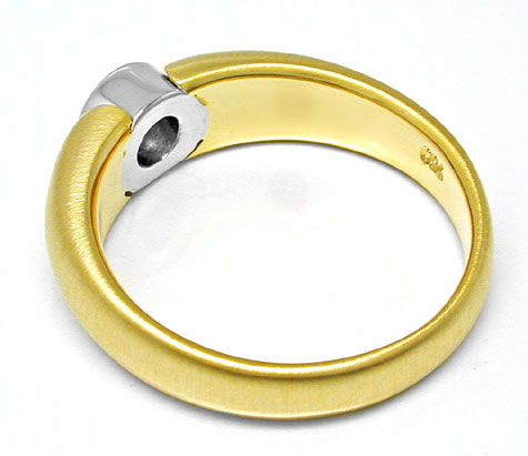 Foto 3, Neu! Brillant-Solitär-Ring Bicolor 18K Luxus! Portofrei, S8839