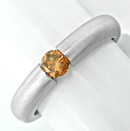 Foto 1, Neu! Brillant-Spann-Ring massiv 18K WG Luxus! Portofrei, S8840
