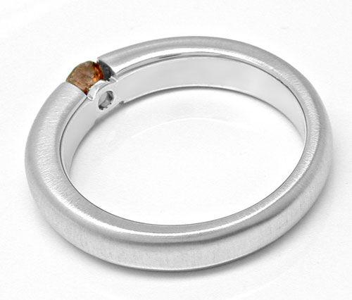 Foto 2, Neu! Brillant-Spann-Ring massiv 18K WG Luxus! Portofrei, S8840