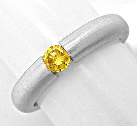 Foto 1, Neu! Brillant-Spann-Ring Extrem-Gelb!!! Luxus Portofrei, S8841