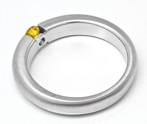 Foto 2, Neu! Brillant-Spann-Ring Extrem-Gelb!!! Luxus Portofrei, S8841