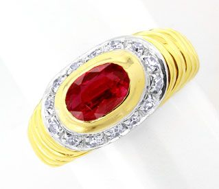 Foto 1, Diamant-Ring, einmaliger Spitzen-Rubin, 18K Luxus! Neu!, S8844