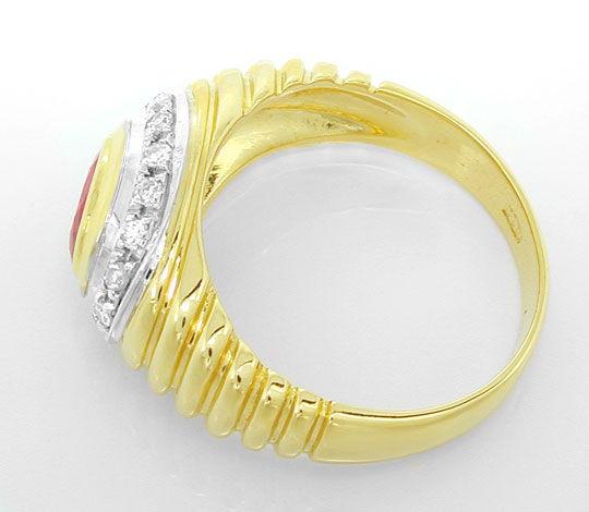 Foto 3, Diamant-Ring, einmaliger Spitzen-Rubin, 18K Luxus! Neu!, S8844