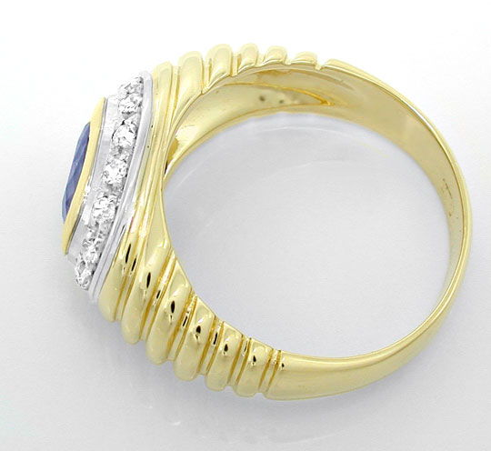 Foto 3, Diamant-Safir-Band-Ring River Top-Saphir 18K Luxus! Neu, S8845