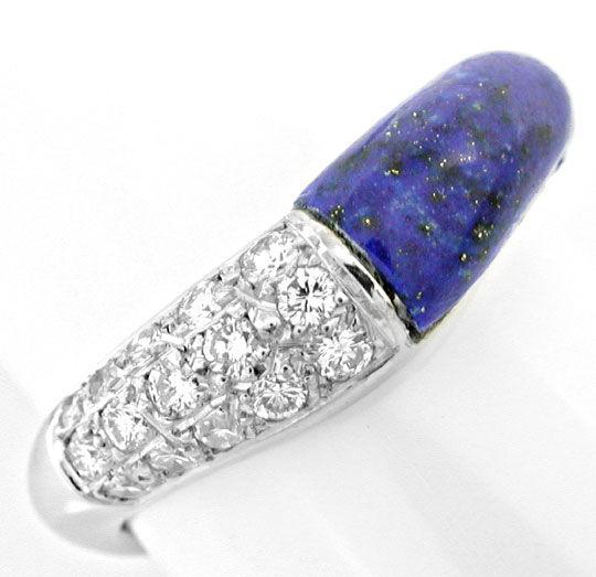 Foto 2, Diamant-Ring Wg, Spitzen Lapis, Lapislazuli Luxus! Neu!, S8848