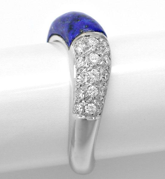 Foto 3, Diamant-Ring Wg, Spitzen Lapis, Lapislazuli Luxus! Neu!, S8848