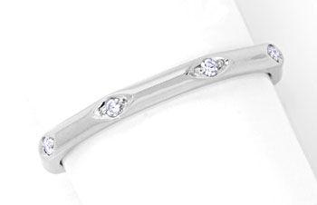 Foto 1, Diamantring Weissgold 18K Vollmemory Lupenrein Shop Neu, S8851