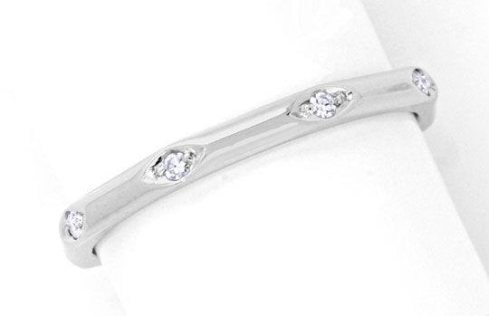Foto 2, Diamantring Weissgold 18K Vollmemory Lupenrein Shop Neu, S8851