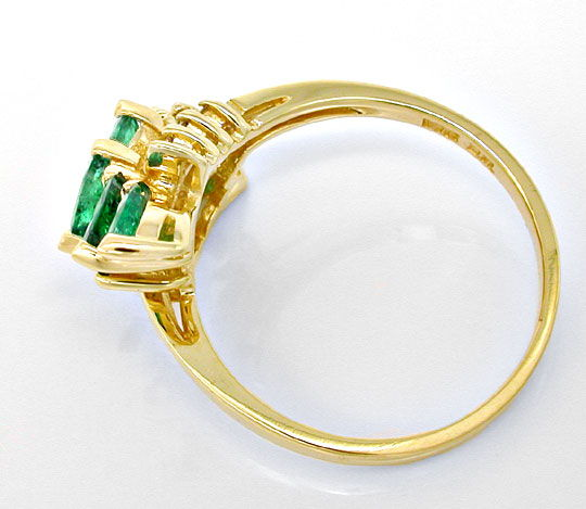 Foto 3, Brillant Smaragd Ring, Spitzen Emeralds 14K Luxus! Neu!, S8852