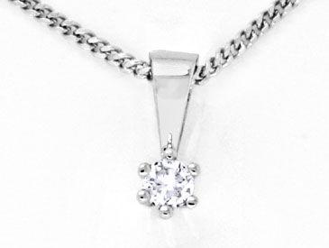 Foto 1, Weissgold-Diamant-Kollier, Krappen-Solitär 14K Shop Neu, S8856