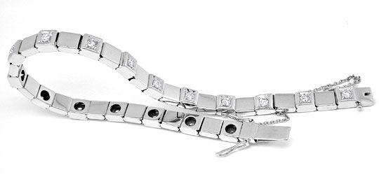 Foto 1, Brillant-Armband Weissgold 4-fach-Sicherung Luxus! Neu!, S8857