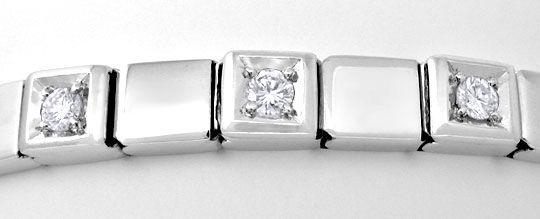 Foto 3, Brillant-Armband Weissgold 4-fach-Sicherung Luxus! Neu!, S8857