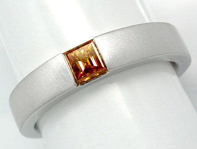 Foto 1, Neu! Diamant-Spann-Ring Traum-Farbe 18K Luxus Portofrei, S8862