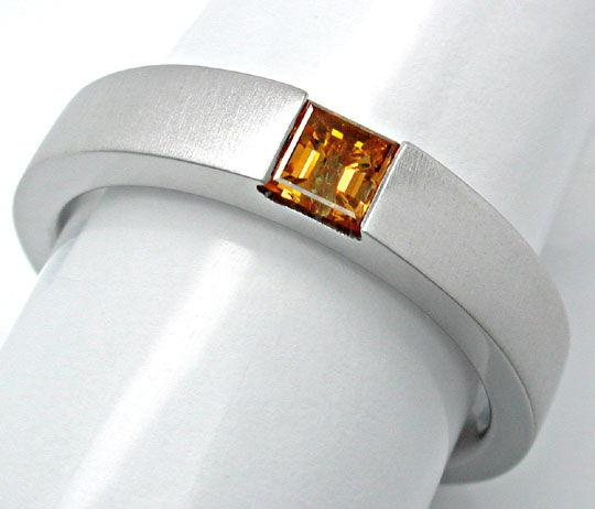 Foto 3, Neu! Diamant-Spann-Ring Traum-Farbe 18K Luxus Portofrei, S8862