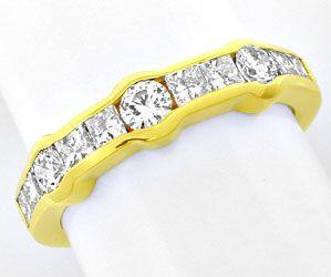 Foto 1, Ring Vollschliff- und Princess-Diamanten 18K Luxus! Neu, S8863