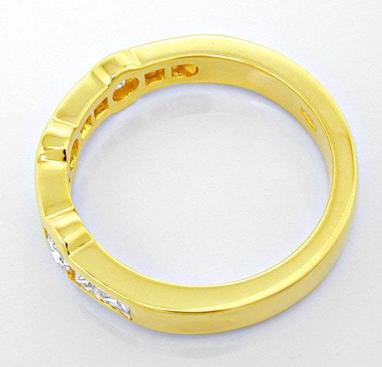 Foto 3, Ring Vollschliff- und Princess-Diamanten 18K Luxus! Neu, S8863