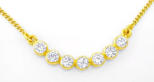 Foto 1, Brillant-Zargen-Kollier 0.5 Carat Diamanten Luxus! Neu!, S8865