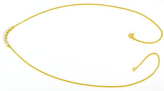 Foto 2, Brillant-Zargen-Kollier 0.5 Carat Diamanten Luxus! Neu!, S8865