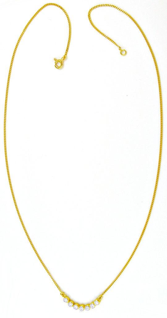 Foto 3, Brillant-Zargen-Kollier 0.5 Carat Diamanten Luxus! Neu!, S8865