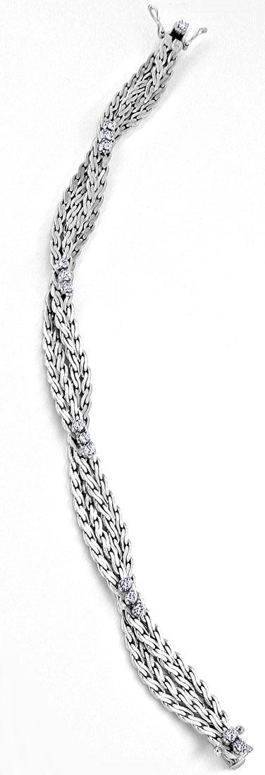Foto 2, Brillant-Armband 18K Weissgold River Luprenrein! Luxus!, S8867