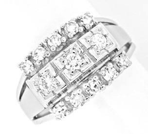 Foto 1, Klassischer Diamant-Ring River Lupenrein WG Luxus! Neu!, S8868