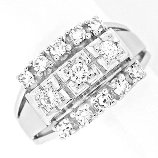 Foto 2, Klassischer Diamant-Ring River Lupenrein WG Luxus! Neu!, S8868