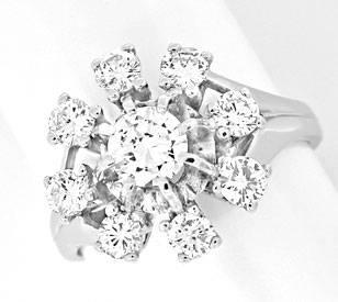 Foto 1, Klassischer Krappen-Brillant-Diamant-Ring WG Luxus! Neu, S8870