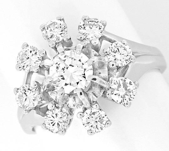 Foto 2, Klassischer Krappen-Brillant-Diamant-Ring WG Luxus! Neu, S8870