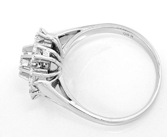 Foto 3, Klassischer Krappen-Brillant-Diamant-Ring WG Luxus! Neu, S8870