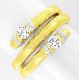 Foto 1, Top Designer-Diamant-Ring 14K/585 Zweifarbig Luxus! Neu, S8873