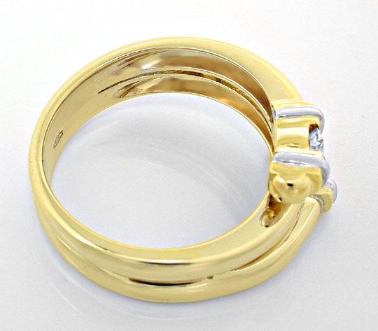 Foto 3, Top Designer-Diamant-Ring 14K/585 Zweifarbig Luxus! Neu, S8873