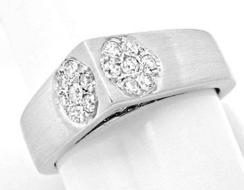 Foto 1, Super Designer Diamant-Ring, 18K Weissgold, Luxus! Neu!, S8875