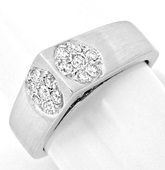 Foto 2, Super Designer Diamant-Ring, 18K Weissgold, Luxus! Neu!, S8875