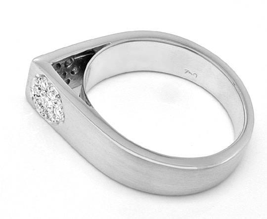 Foto 3, Super Designer Diamant-Ring, 18K Weissgold, Luxus! Neu!, S8875