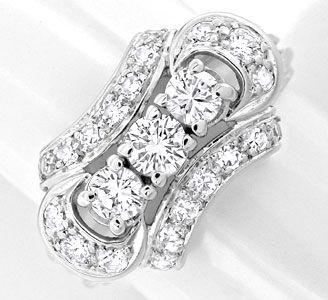 Foto 1, Klassischer Weissg.-Handarbeits-Diamant-Ring Luxus! Neu, S8877