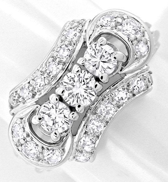 Foto 2, Klassischer Weissg.-Handarbeits-Diamant-Ring Luxus! Neu, S8877