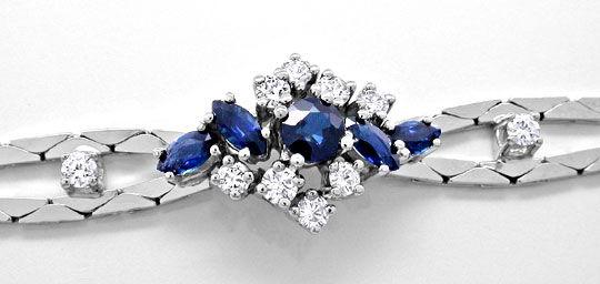 Foto 1, Safir-Diamant-Armband 1,3 Saphire 0,5 Brillanten Luxus!, S8880