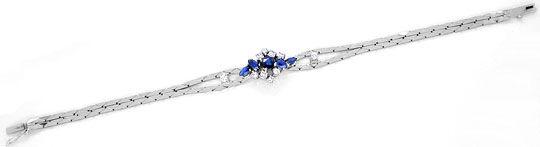 Foto 2, Safir-Diamant-Armband 1,3 Saphire 0,5 Brillanten Luxus!, S8880