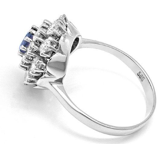 Foto 3, Diamant-Safir-Ring 1,28 Carat Brillanten, Luxus! Neu/Ls, S8881