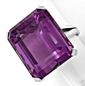 Foto 1 - 27ct Aller Feinster Amethyst im Handarbeits Ring Luxus!, S8896