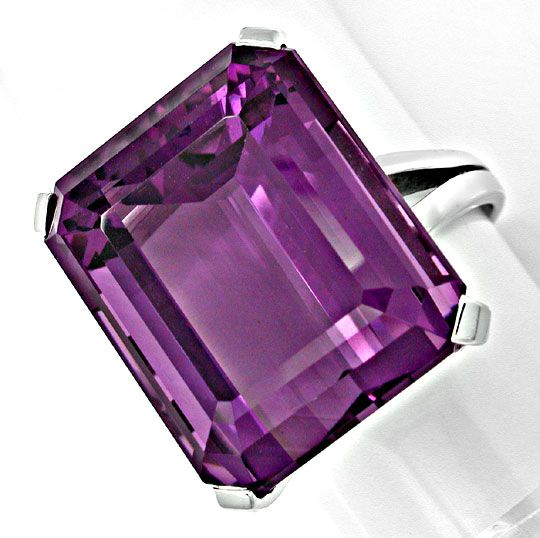 Foto 2, 27ct Aller Feinster Amethyst im Handarbeits Ring Luxus!, S8896