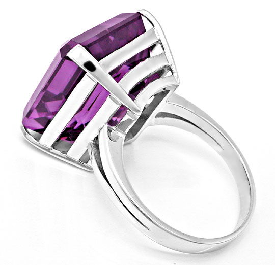 Foto 3, 27ct Aller Feinster Amethyst im Handarbeits Ring Luxus!, S8896