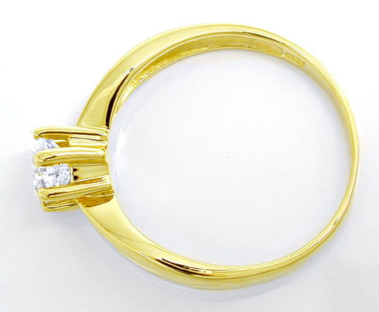 Foto 3 - Brillant Solitärring 0,63ct River E Gelbgold Luxus! Neu, S8900