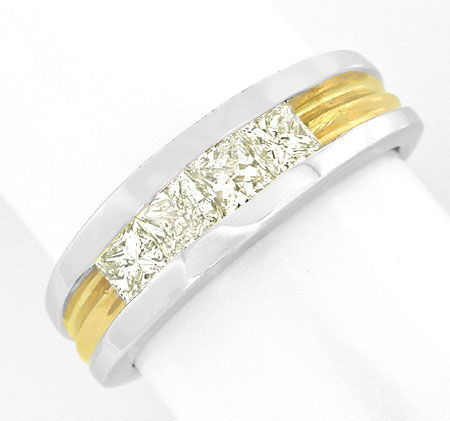 Foto 2, Memory Diamant Ring 0,7ct Princess Cut, 18K Luxus! Neu!, S8905