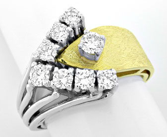 Foto 1, Brillant Handarbeits Ring einmaliges Design Luxus! Neu!, S8907