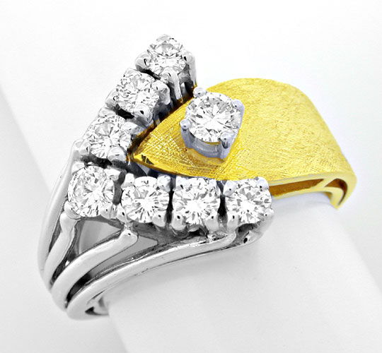 Foto 2, Brillant Handarbeits Ring einmaliges Design Luxus! Neu!, S8907