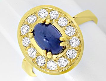 Foto 1 - Safir Brillant Ring 1,75 Saphir - 0,50 Diamanten Luxus!, S8926