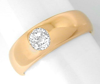 Foto 1, Original antiker Diamant Band Ring Rotgold Luxus! Neuw., S8927