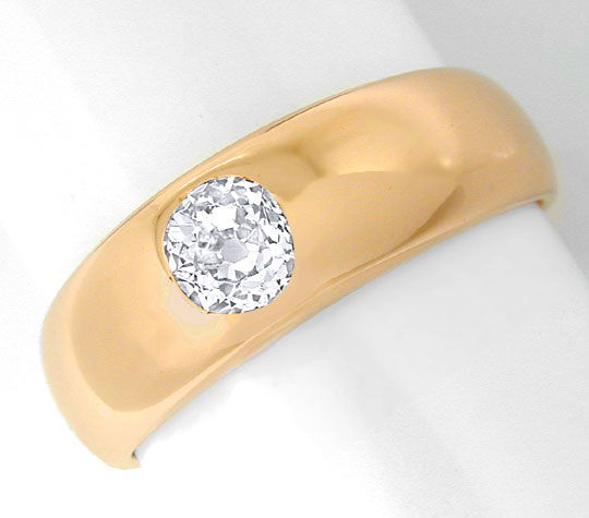 Foto 2, Original antiker Diamant Band Ring Rotgold Luxus! Neuw., S8927